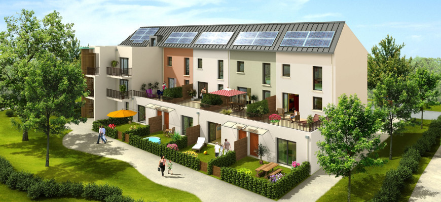 Achat appartement neuf t2 et t3 duplex bbc c ur de jardin for Achat appartement jardin