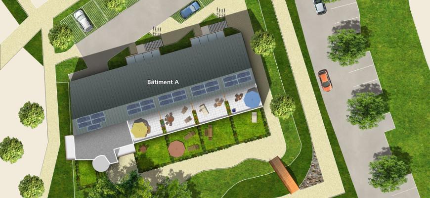 Achat appartement neuf t2 et t3 duplex bbc c ur de jardin for Application plan jardin